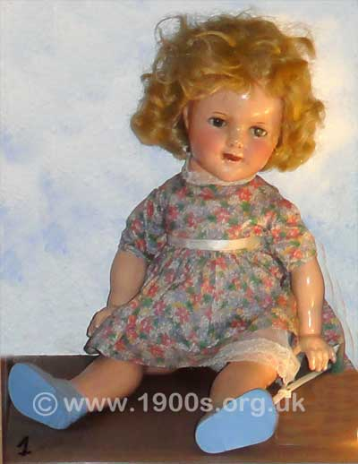 China doll, probably made before the Second World War
