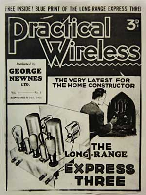 Cover of Practical Wireless magazine, dated 1932