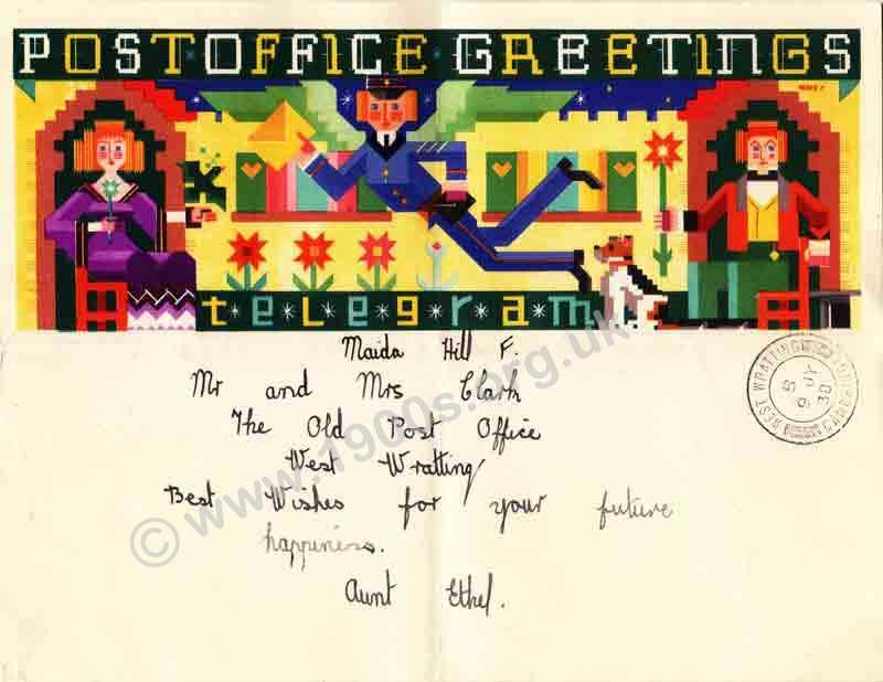 British greetings telegrams 1938 1938 greetings telegram issued by the british gpo general post office 1 of 2 m4hsunfo