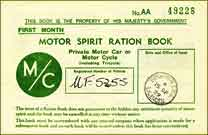 UK Petrol coupon AA, first edition, September 1939, thumbnail