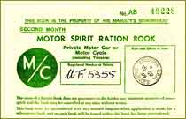 UK Petrol coupon AB, first edition, September 1939, thumbnai