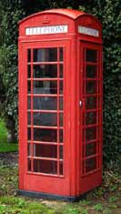 UK public phone box from the mid 1900s - bright red