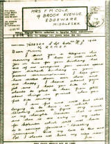 thumbnail: World War Two letter home to England from a soldier serving in the Middle East, Augustr 1942.