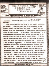 thumbnail: World War Two letter home to England from a soldier serving in the Middle East, October 1942.