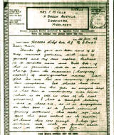 thumbnail: World War Two letter home to England from a soldier serving in the Middle East, June 1943.