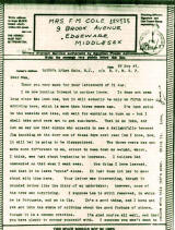 thumbnail: World War Two letter home to England from a soldier serving in the Middle East, September 1943.