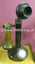 1920s candlestick phone with no dial