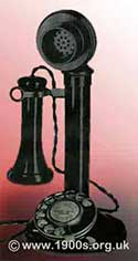 Candlestick phone with a dial