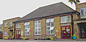A recent photograph of what was Edgware Primary School in the 1940s
