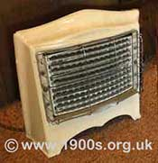 A domestic electric fire from the 1940s and 1950s