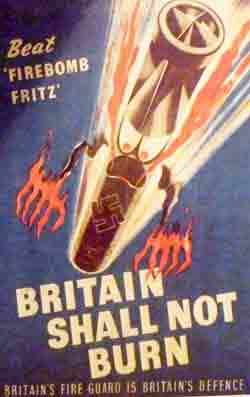 WW2 poster encouraging men to do fire watching and everyone to do fire fighting