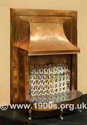 A domestic gas fire from the 1940s and 1950s