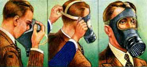 How to put on a world war two gas mask (respirator)