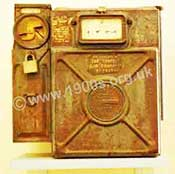Old 1930s UK 'coin in the slot' gas meter, common in the mid 20th century.