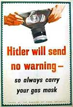 WW2 poster warning everyone to carry their gas mask