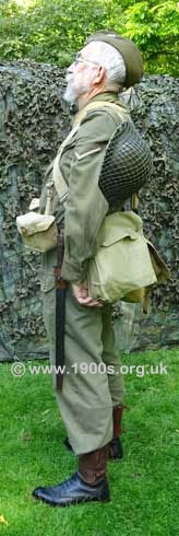 Home Guard uniform and kit, left side