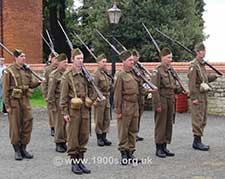 1940s Home Guard re-enactment with fixed bayonets