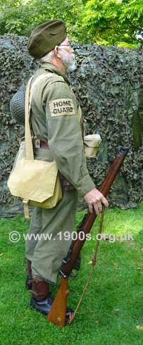 Home Guard uniform and kit, right side