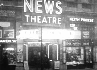Newsreel theatre or cinema, 1940s