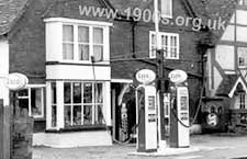 how car drivers bought petrol in early to mid 20th century