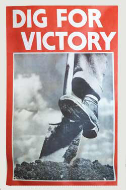 World War Two Poster Encouraging People To Dig For Victory