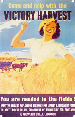 World War Two poster of land girls