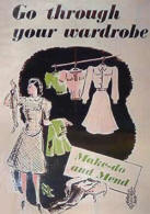 Make do and mend poster, WW2