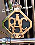 An RAC badge for attaching to the front of a car to show membership of the Royal Automobile Association