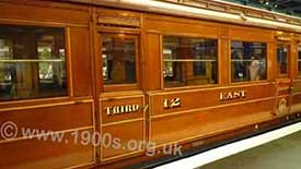 Third class train coach (then known as a train carriage) common in the early to mid 1900s