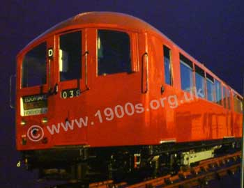 mid 20th century London Underground Northern Line train