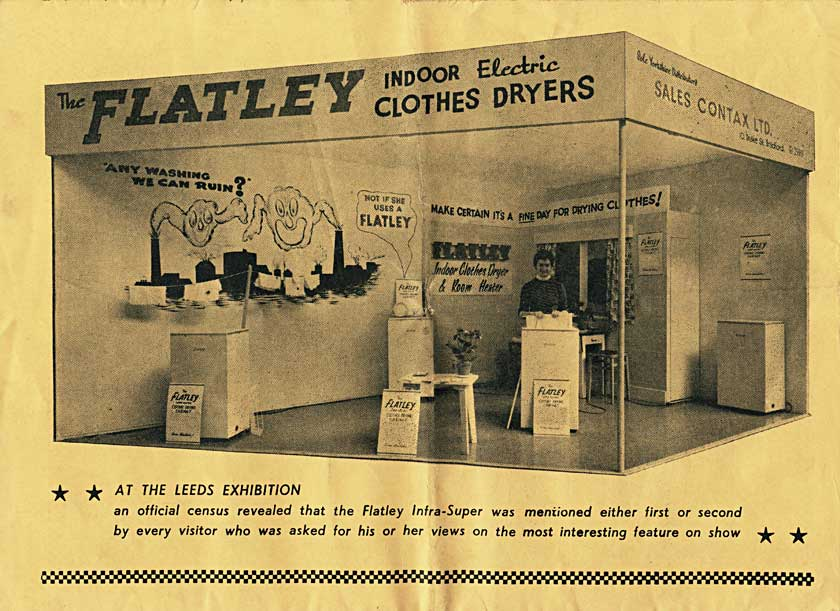 Flatley airer/dryer exhibit at a major show