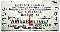 1954 train ticket for a member of Her Majesty's Forces on leave