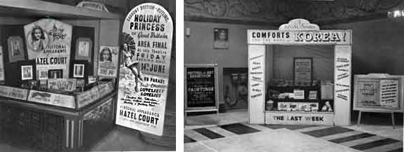 stall in cinema foyer, mid 20th century