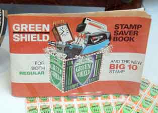 Green shield stamp book