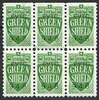 six green shield stamps
