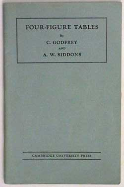 cover of Godfrey and Siddons four figure tables