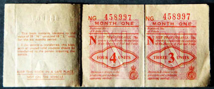 1957 UK petrol coupons, thumbnail