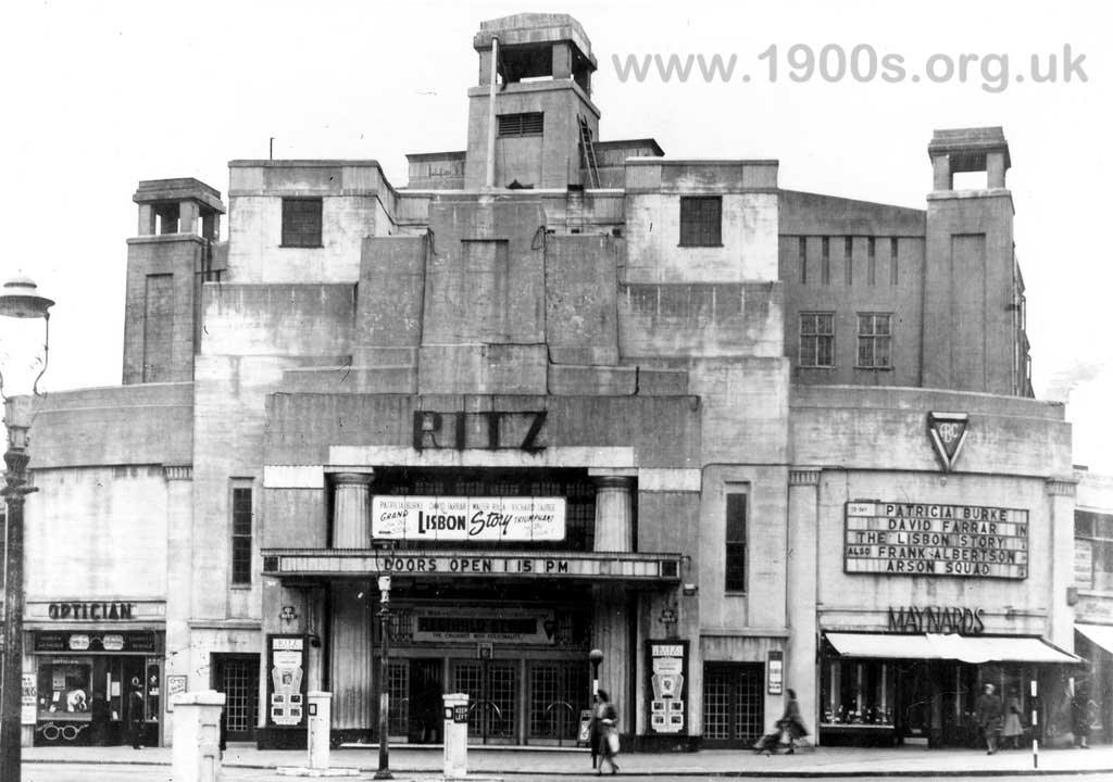 The Ritz cinema, Edgware, north London, typical of British cinemas in the 1940s and 1950s
