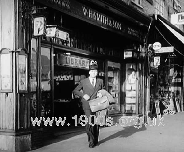 W H Smith newsagent and private library, mid 20th century