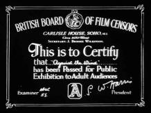 Film censor certificate, as shown at the beginning of every cinema performance, mid 20th century, UK