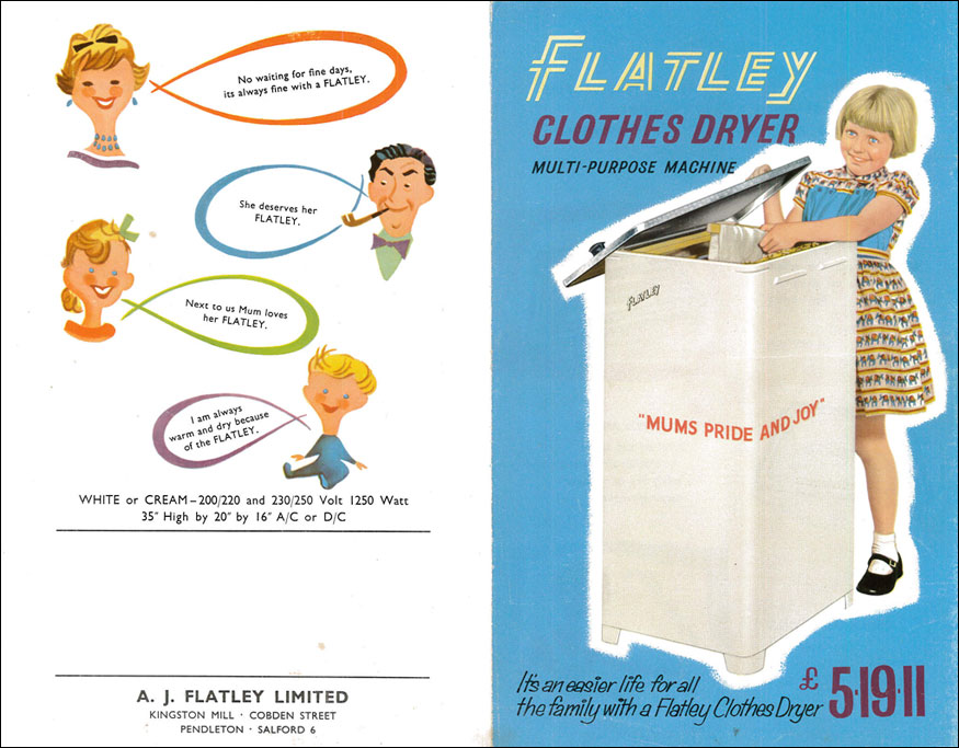 advert for Flatley dryer/airer