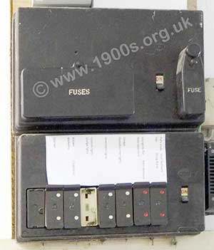 Fuses Blowing Electrical Equipment Pre 1950s Britain Lights Fuse Box A Mid 20th Century Uk