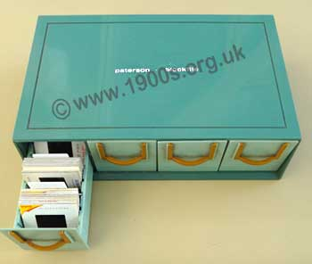 Slide box with drawers for storing old colour slides