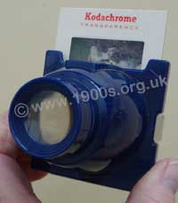Personal viewer for colour slides and use with natural light