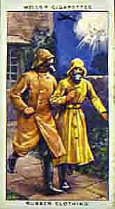 Rubber clothing as worn by civilians in the Second World War