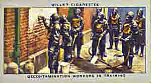 World War Two decontamination workers in training