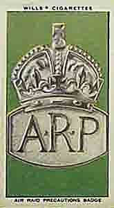 World War Two badge of Air Raid Precautions