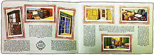 Layout of pages of the cigarette card album on preparations for the World War Two homefront