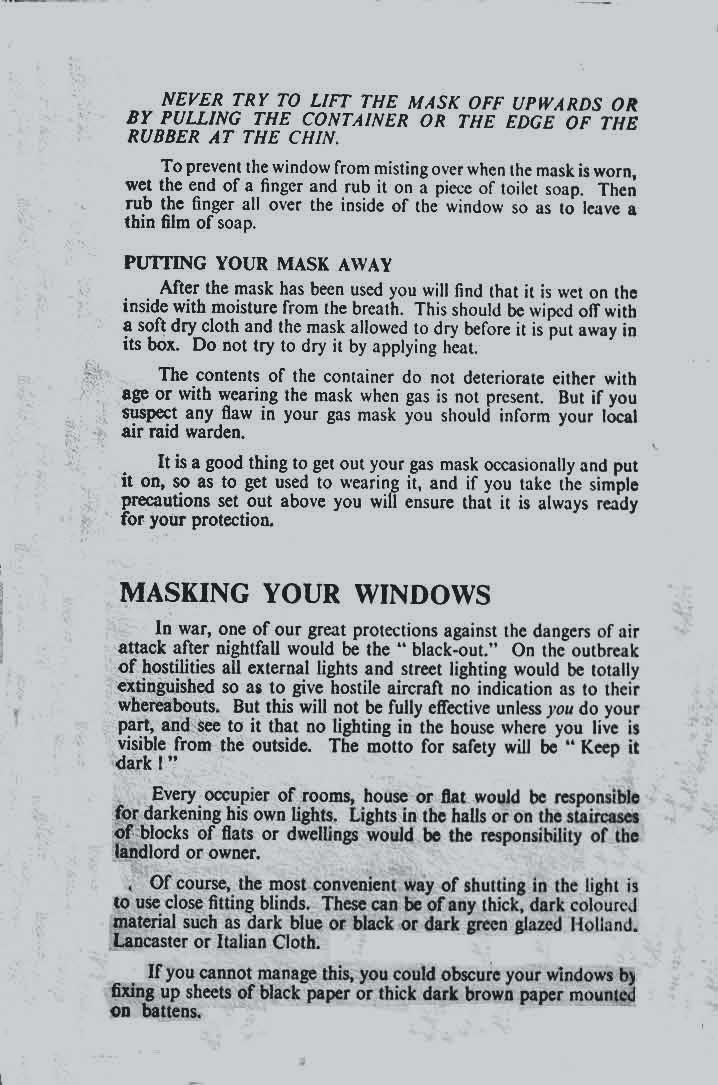 Third page of WW2 Civil Defence Leaflet no 2
