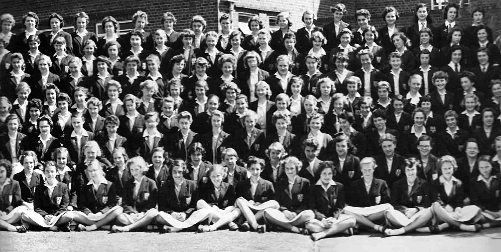Fifth section of the 1957 School photograph for Copthall County Grammar School